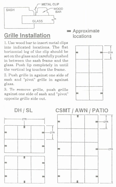 Full Surround Window Grille Installation Instructions